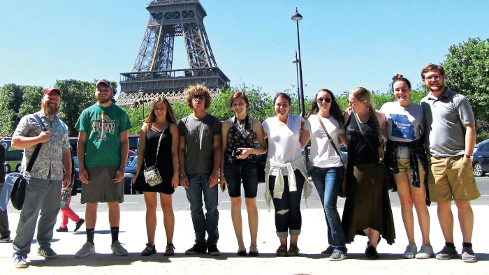 Honors group at Eiffel Tower in Paris