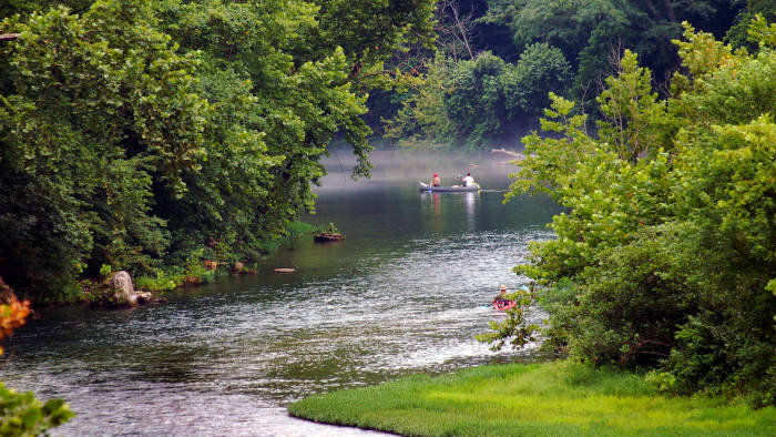 Canoeing on the river, Photo Credit Dennis Crider