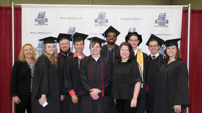 Student Ambassadors who graduated at the 2017 Commencement Ceremony