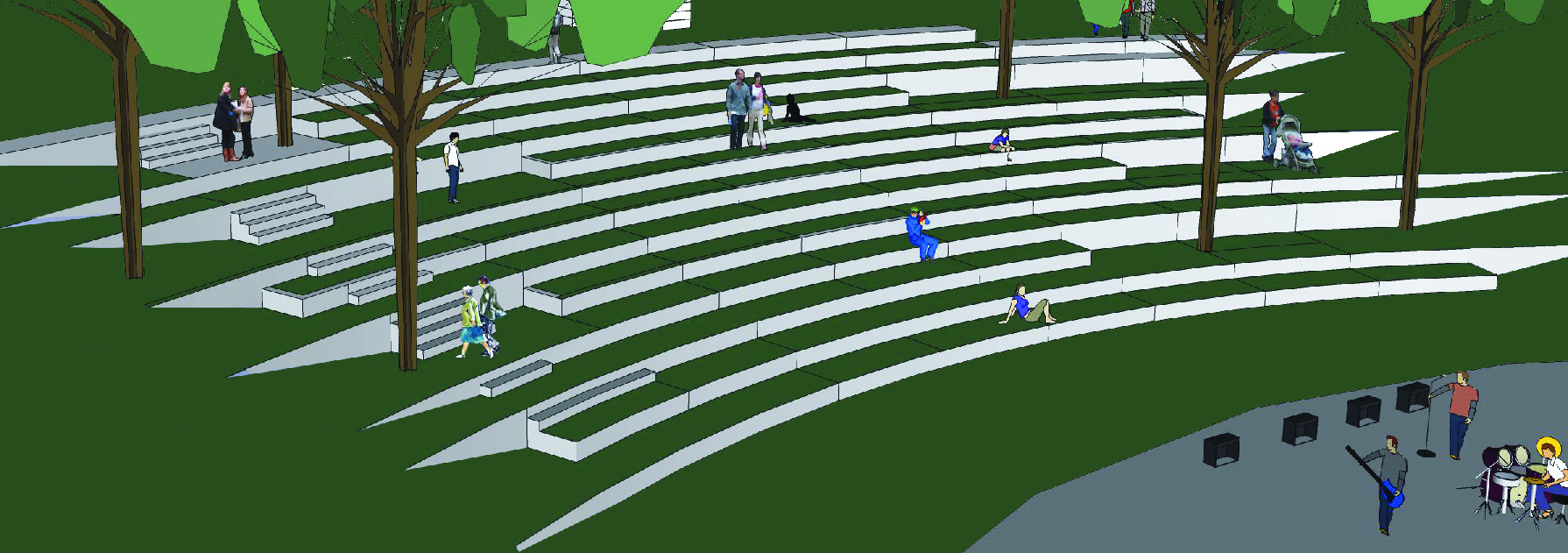 Rendering of the proposed amphitheater.