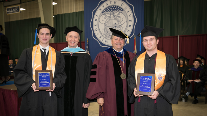 Best Student Award winners from the 2017 Commencement Ceremony