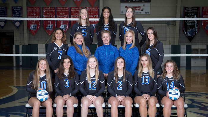 The 2017 Grizzly Volleyball team