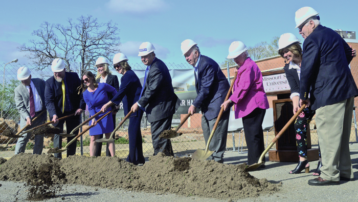 Groundbreaking ceremony for Hass-Darr Hall