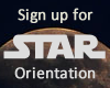 Sign up for STAR Orientation
