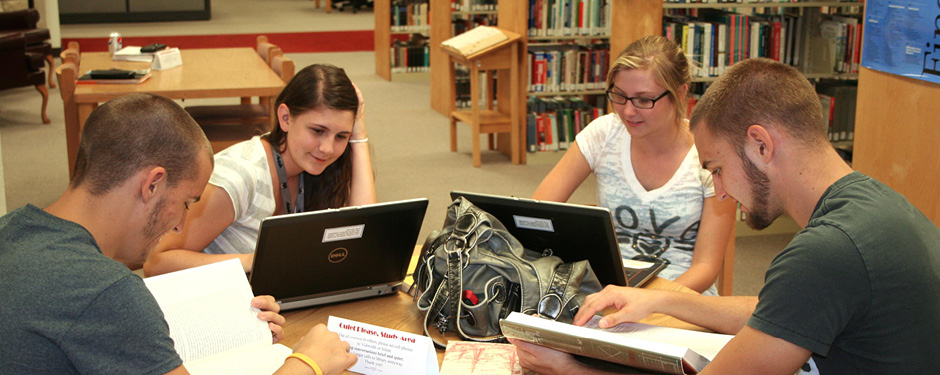 Students can find a wealth of resources through the Garnett Library.